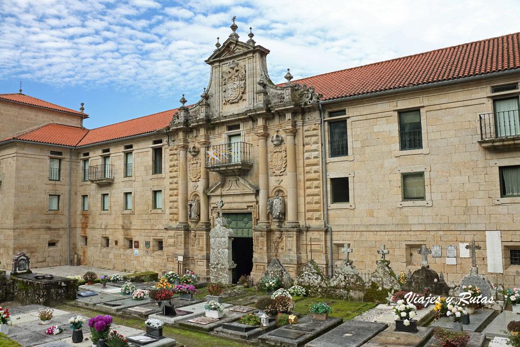 Portada del monasterio de Interior de Santo Estevo de Ribas de Sil