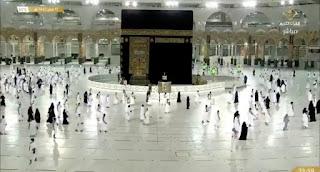 المسجد الحرام يستقبل المعتمرين و الزوار