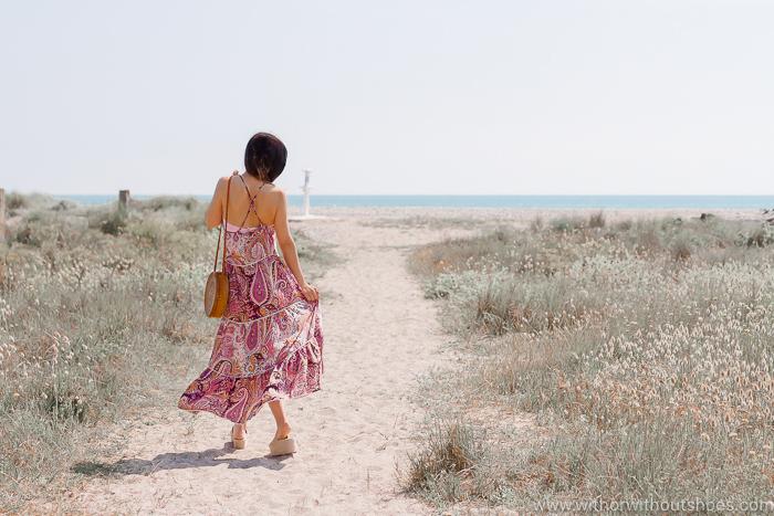 Look para El primer baño en la playa con vestido y bikini women secret