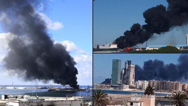 Οι δυνάμεις του Χαφτάρ βομβαρδίζουν το λιμάνι της Τρίπολης