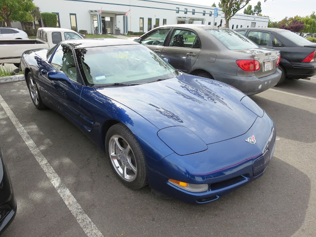Corvette getting collision repairs at Almost Everything Auto Body.