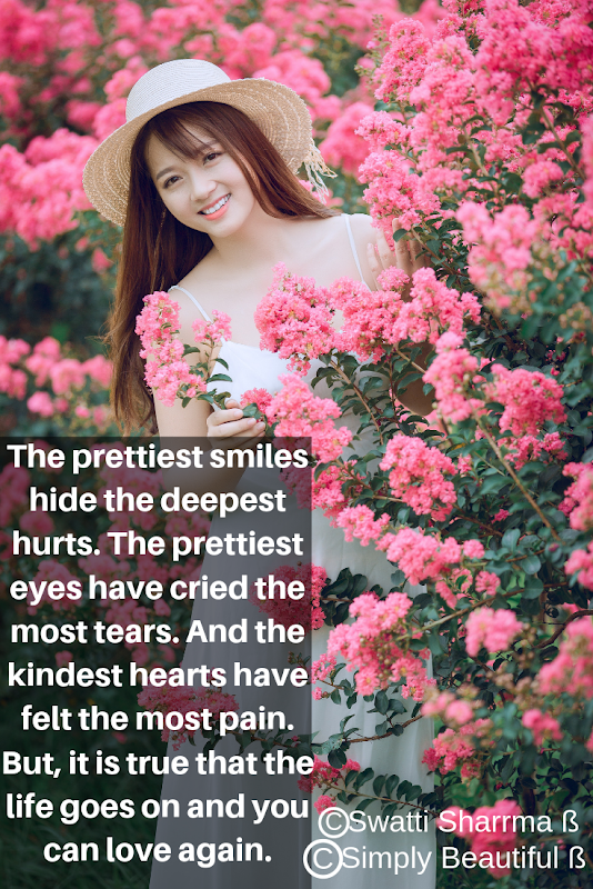 Quotes on smiles, tears and pain.
