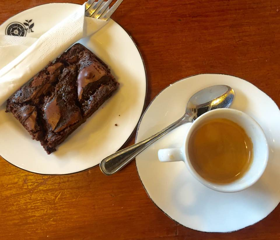 Quilliam Brothers Teahouse | Newcastle - Lunch Menu Review - Espresso and Chocolate Brownie