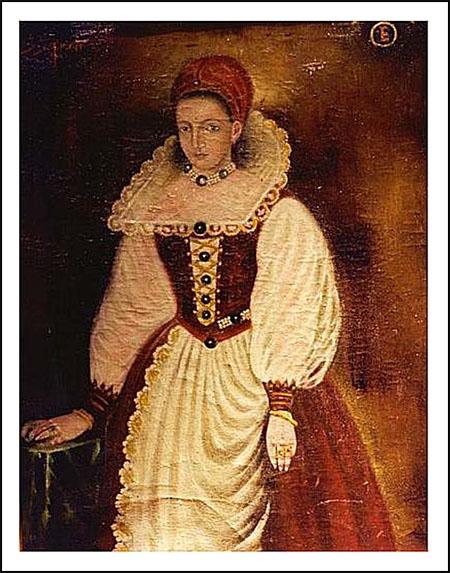Copia del retrato original perdido de 1585 de Elizabeth Báthory