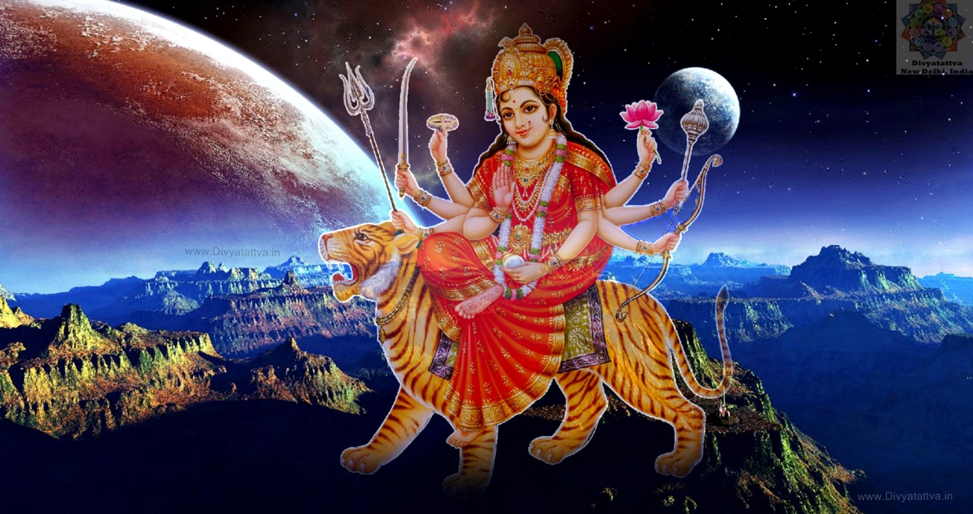 Durga Devi, Durga Maa ka Photo Sherawali, Goddess Shakti, Hindu Goddess Durga Devi Images