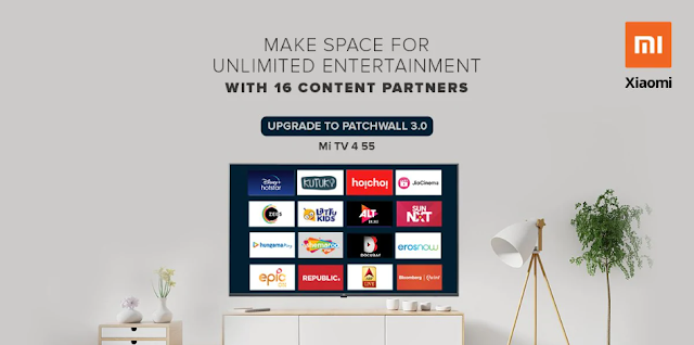 Mi TV 55-Inch Starts Obtaining PatchWall 3.0 Update at India