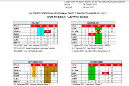 Kalender Pendidikan (Kaldik) 2021/2022 Sleman (PDF)