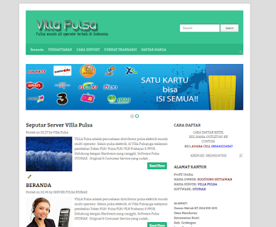 template website pulsa