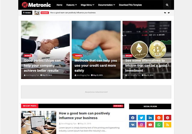 Metronic WordPress blog themes