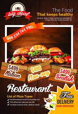 تحميل 10 فلاير لإعلانات المطاعم -هارد المصمم العملاق