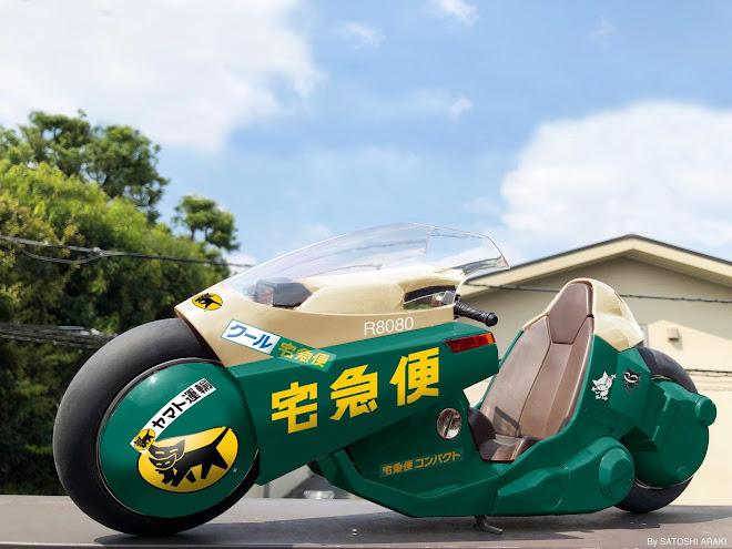 Kuroneko Power Bike - Akira Power Bike in the livery of Yamato Transport Company - Illustration Satoshi Araki