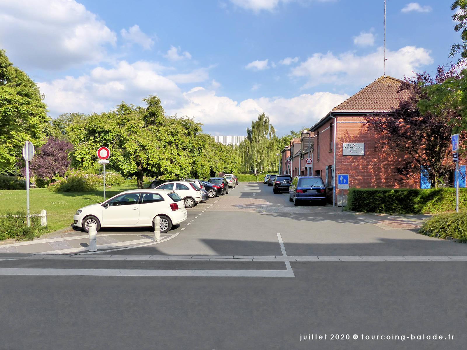 Allée des Cerisiers et rue du Moulin, Tourcoing 2020