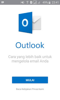 Setting email melalui outlook untuk android