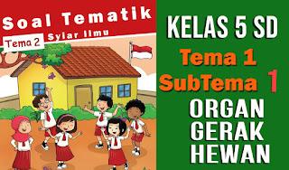 Soal-Tematik-Kelas-5-SD-Tema-1-Subtema-1-Organ-Gerak-Hewan-dan-Kunci-Jawaban