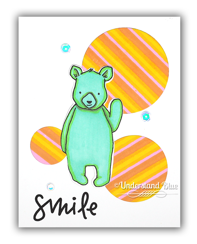 Hi There Bear card by Understand Blue