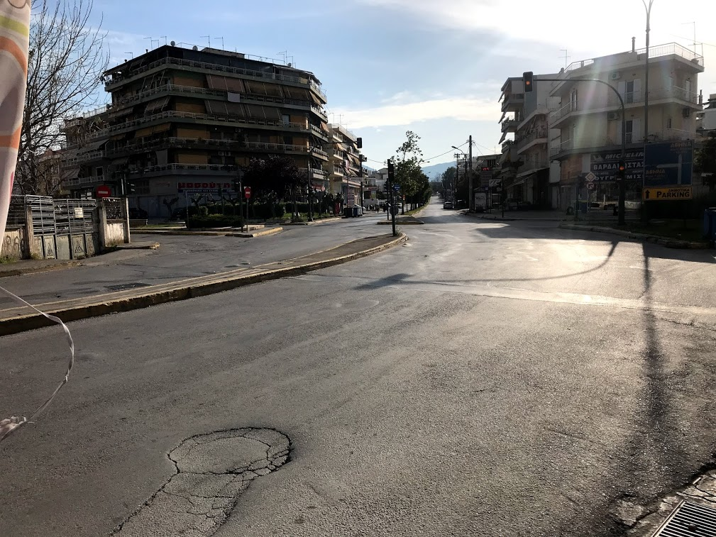 Άδεια πόλη η Χαλκίδα το Πάσχα του 2020