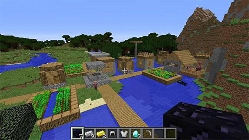 Khu làng nổi phía trên mặt nước đựng được nhiều khoáng sản với kho báu
