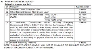 BOM Generalist Officer Age limit