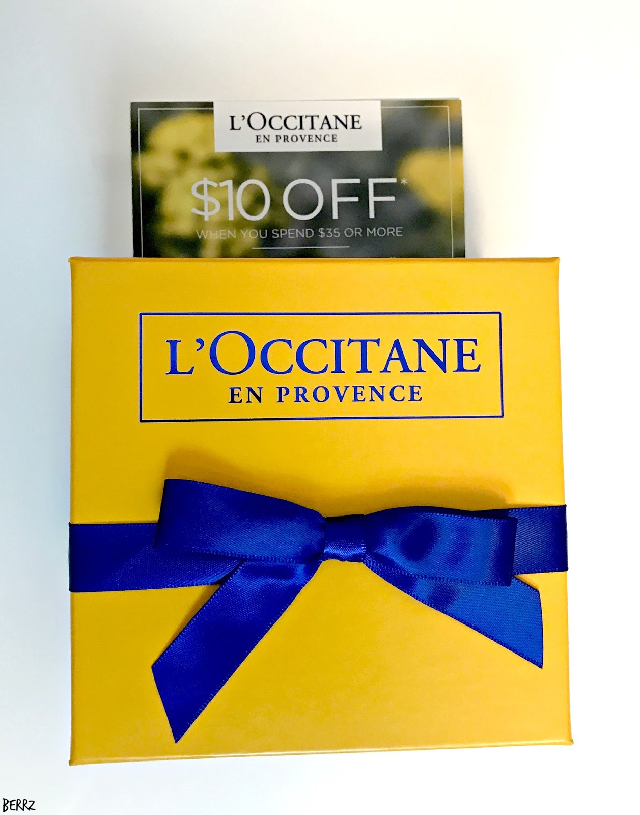 Beauty By Berrz: L'Occitane Free Gift Trio
