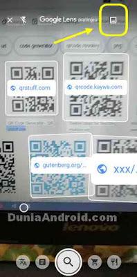 Mengambil kode QR dari gambar di galeri