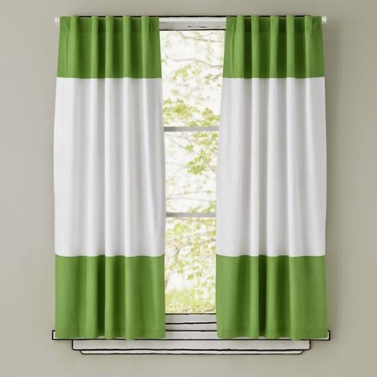 White Green Living Room Curtains For The Window