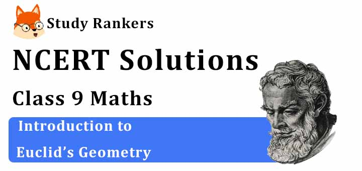 NCERT Solutions for Class 9 Maths Chapter 5 Introduction to Euclid's Geometry