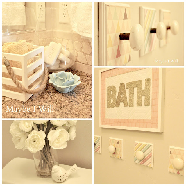 Crafty Bathroom Makeover from Maybe I Will