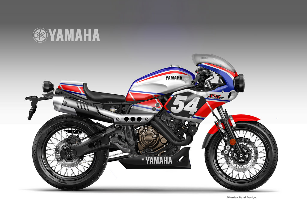 racing caf design corner yamaha xsr 700 coolest brother series by oberdan bezzi. Black Bedroom Furniture Sets. Home Design Ideas