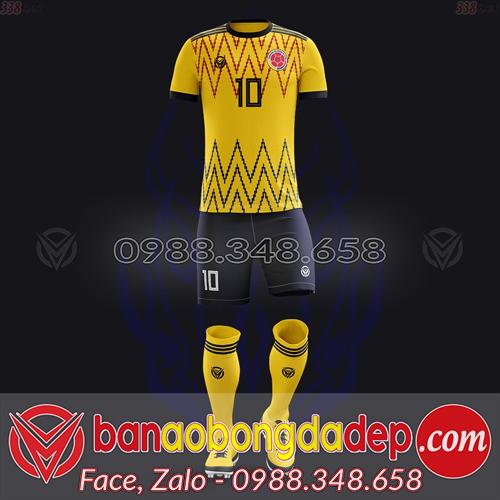 Áo Đội Tuyển Đặt May Theo Yêu Cầu - Mã COLOMBIA-02