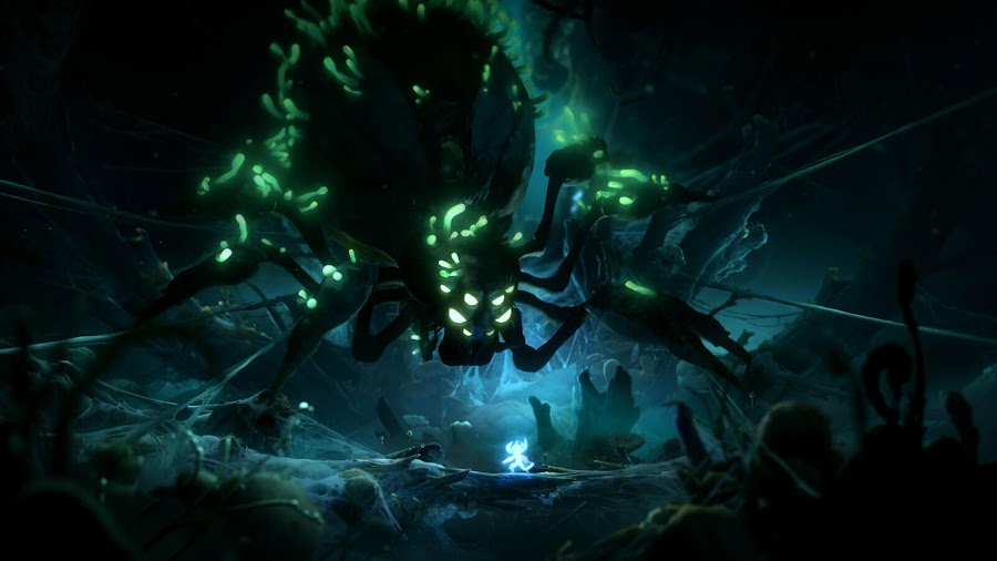 ori and the will of the wisps giant spider enemy pc steam xb1 game pass moon studios xbox game studios
