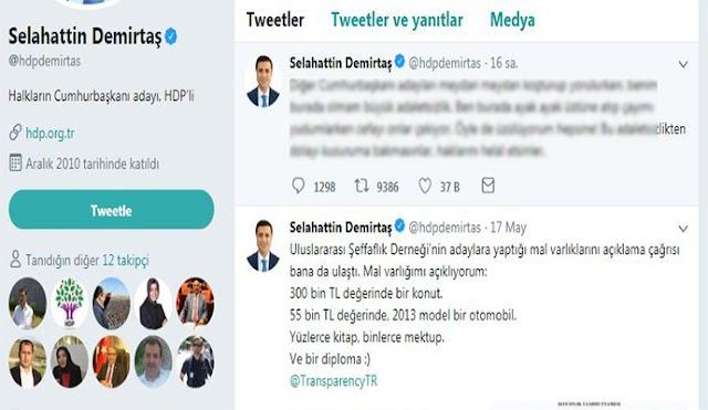 Demirtaş, 'diğer adaylar haklarını helal etsin'