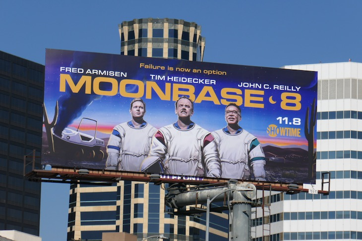 Moonbase 8 series premiere billboard