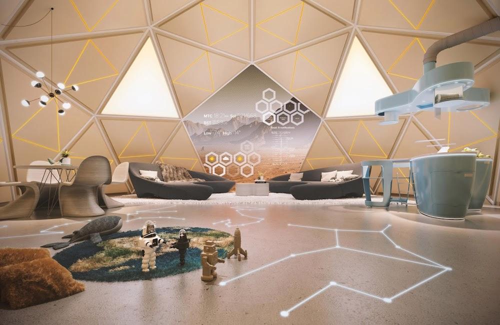 Mars home interior (The Sun)