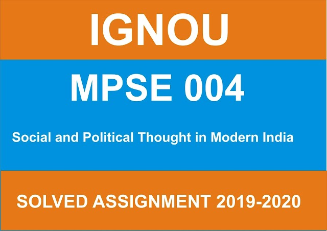 MPSE 004 Solved Assignment