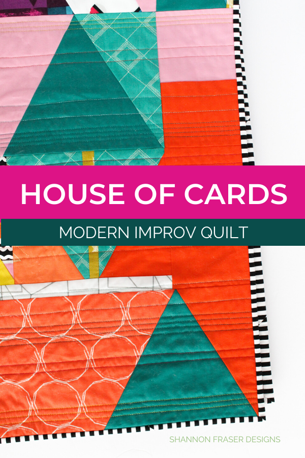 House of Cards | Honest state of a modern quilter's WIP List | Q1 2020 Finish-a-Long | Shannon Fraser Designs #modernimprovquilt #modernquilt