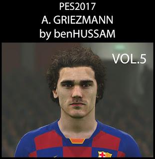 Faces Antoine Griezmann by Ben Hussam FaceMaker Update, PES 2017 Faces Antoine Griezmann by Ben Hussam FaceMaker
