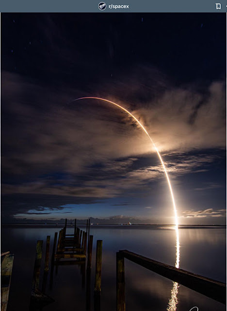 Beautiful view of Falcon 9 launch from KSC (Source: SpaceX)