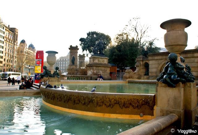 Fontana della Placa de Catalunya di Barcellona