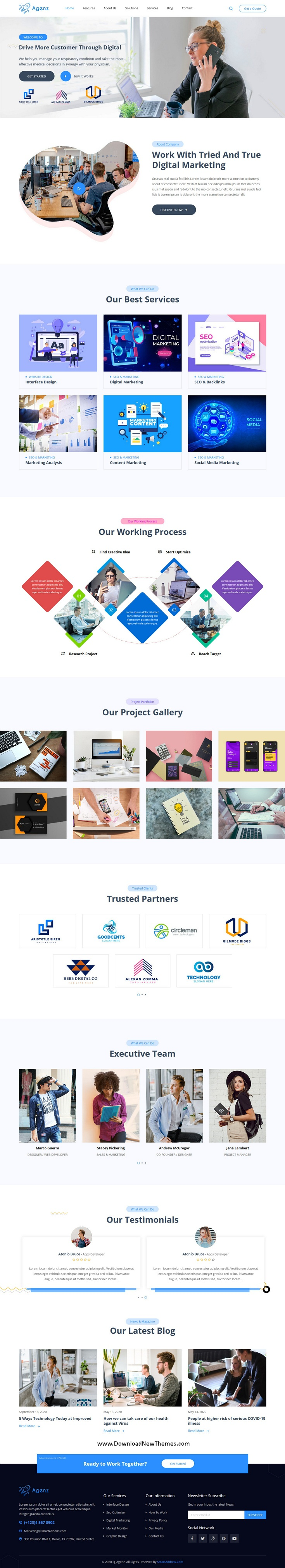 Creative Business Agency Joomla Template