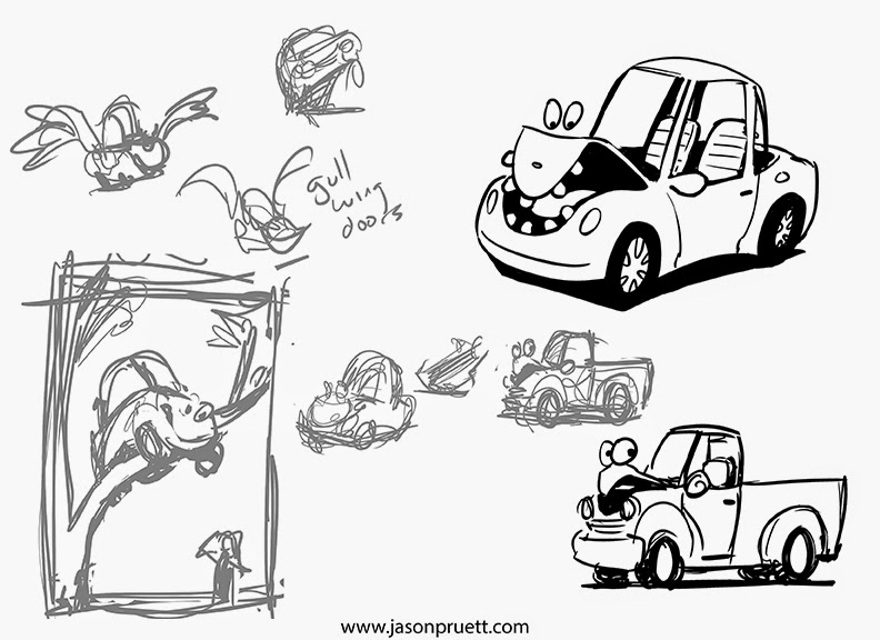 the art of jason pruett the cars have eyes illustrations and process 2 Door Cars 2013 i do some digital sketching in photoshop and clean up some drawings while drawing these cars i looked at some real cars to see if my memory had missed