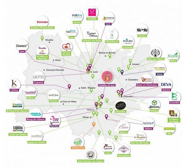 #BeautyPartyLyon Influenceurs et Marques ! Carte des marques adhérentes à la Communauté Bio Auvergne-Rhône-Alpes