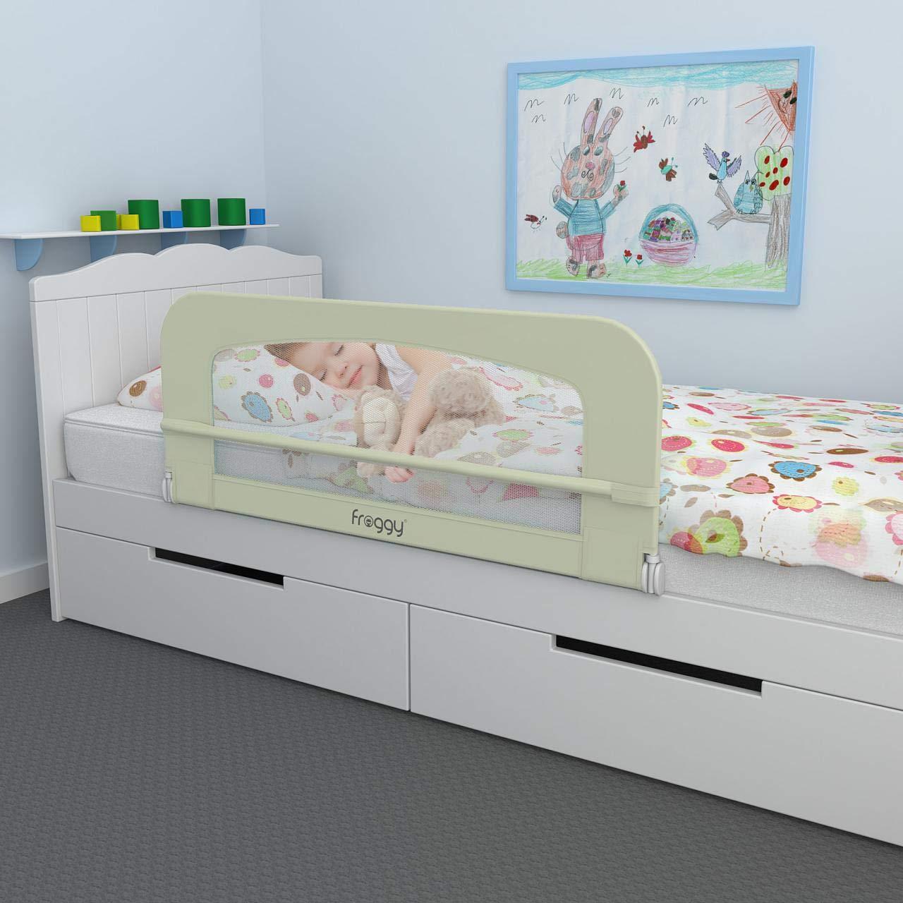 150 cm Tragbares Faltbar Kinder Bettgitter Kinder Kinderbettgitter//Babybettgitter Beige f/ür Massivholzbetten Greensen Bettgitter Bettschutzgitter f/ür Baby