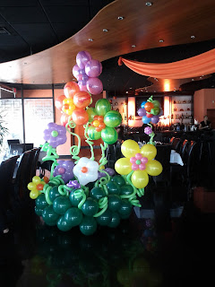 Flowers garden from balloons design