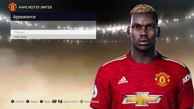 PES 2021 Faces Paul Pogba