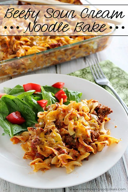 Noodles, Beef, sour cream, casserole, baked, dinner, recipe, comfort food