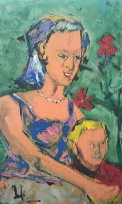 Madona Jacinra - Acrílico sobre tela - Clameli