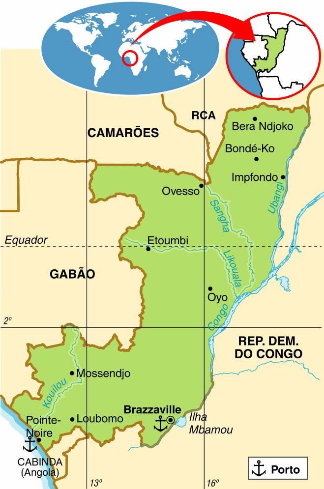 CONGO, ASPECTOS GEOGRÁFICOS E SOCIOECONÔMICOS DA REPÚBLICA DO CONGO