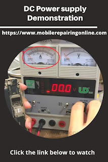 Digital Power supply shows Ampere Reading that's mean there is a shortage in the phone