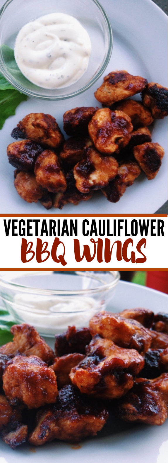 Cauliflower BBQ Wings #vegetarian #barbecue