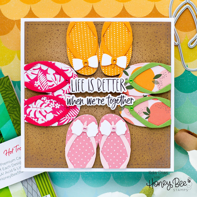 Beach, Flip Flops, Flippin Fabulous, Friendship Card, Honey Bee Stamps, Beach Card, Summer, Hello Summer, Card Making, Stamping, Die Cutting, handmade card, ilovedoingallthingscrafty, Stamps, how to,
